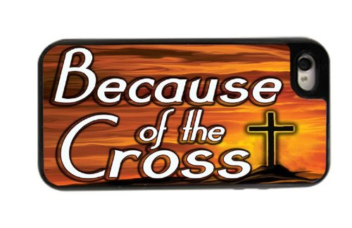 Because the Cross – Best 3 in 1 cell phone case for iPhone 4, 4S – Black