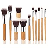 EmaxDesign® Makeup Brushes Professional 11 Piece Makeup Brush Set Bamboo Handle Foundation Blending Blush Eyeliner...