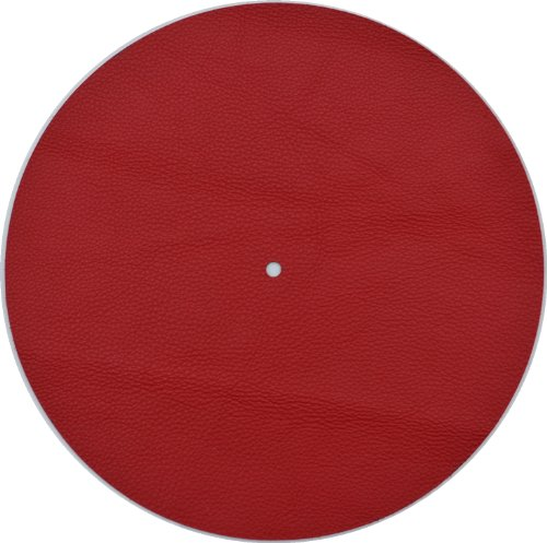 Genuine Leather Turntable Platter Mat Red Review Best