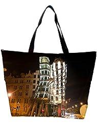 Snoogg Abstract Buildings Designer Waterproof Bag Made Of High Strength Nylon - B01I1KHA2Q