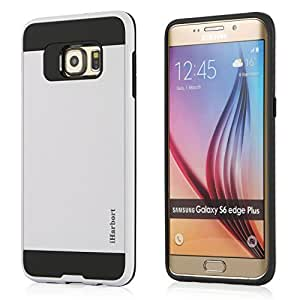 iHarbort Smasung Galaxy S6 Edge Plus Case - Dual Layer & Brushed Finishing Protection with Combo Armor Defender Case Cover for Samsung Galaxy S6 Edge +/ Plus (White)