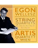 Wellesz : Quatuor à cordes n° 3, 4, 6. Artis Quartet Wien.