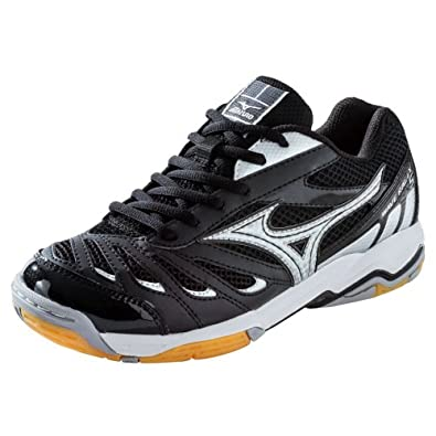 Mizuno Wave Rally 5 Women's Volleyball Shoes - Black & Silver (Black/Silver, 6)