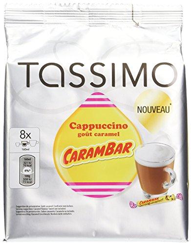 "8 Dosettes T DISCS Tassimo CAPUCCINO goût caramel CARAMBAR "" NOUVEAU boisson de 160ml"" Fabuleux 332g"