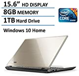 "2016 Newest Toshiba Satellite L55 15.6"" Flagship High Performance Laptop PC, Intel Core i5-5200U Processor, 8GB Memory, 1TB HDD, DVD+/-RW, Windows 10, Satin Gold"