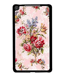 PrintDhaba Floral Pattern D-2185 Back Case Cover for ASUS GOOGLE NEXUS 7 2013 (Multi-Coloured)