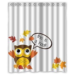 Custom autumn owl thanksgiving turkey day for Bathroom decor amazon