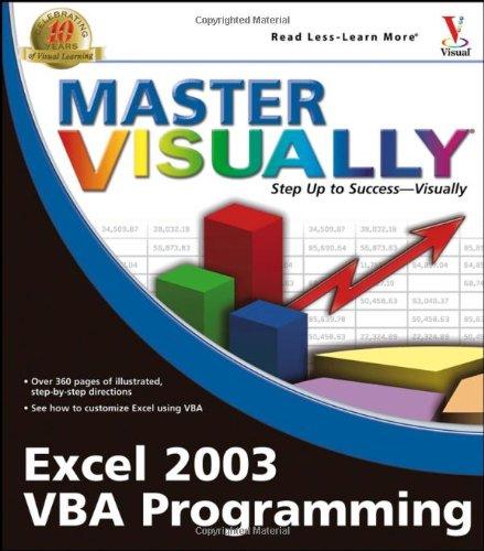 Master Visually Excel 2003 VBA Programming