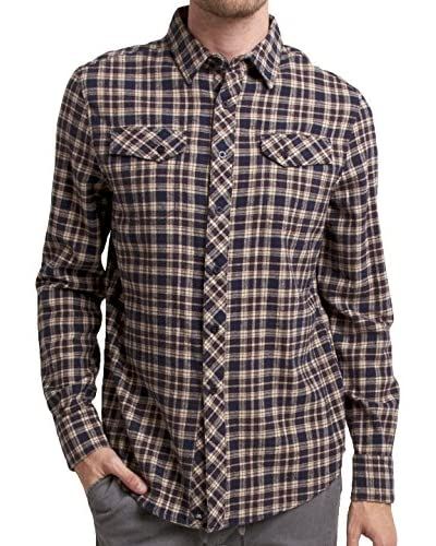 Micros Men's Landslide Long Sleeve Flannel Plaid Shirt with Flap Pockets