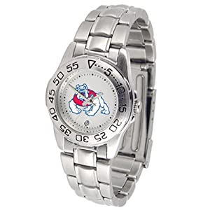 Fresno State Bulldogs NCAA Sport Ladies Watch (Metal Band) by SunTime