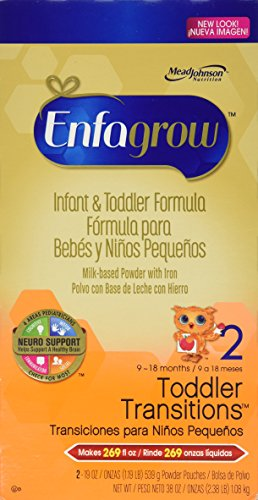Enfagrow Premium Toddler 2 Infant & Toddler Formular 38 Oz. Powder Pouches 58% Larger Makes 269 Fl Oz Box