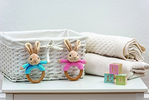 Flopsy Bunny Wooden Ring Rattle