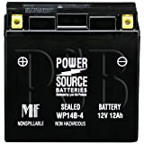 GT14B-4, YT14B-BS, YT14B-4, PT14B-4, UT14B-4, XTA14B-BS Replacement Battery 180cca High Performance WP14B-4 Sealed AGM for Yamaha, Hyosung Motorcycles