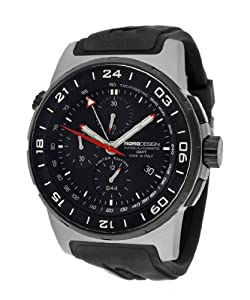 Momo Design Men's Titanium Pilot XL Chronograph Watch MD088-GMT-RB-VT-01BKBK