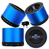 CellBig Introduces Brand New Spicy Blue My Vision Wireless Portable Mini Bluetooth V9 Speaker With S D Card Reader Slot And iN Built Mic Included UK Mains Plug Charger Adaptor in BONUS Suitable for HTC S620 / S630 / S710 / S730 / S740 / Salsa / Schubert