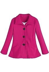 Women's Ottoman Pink Knit Blazer Jacket