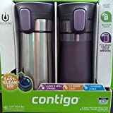 2 pk Contigo Pinnacle Thermal 14 oz Travel Mug Leak Spill Proof with Vacuum Insulated Body (Purple)