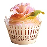 Paper Orchid Picket Fence Cupcake Wrapper White, Set of 12