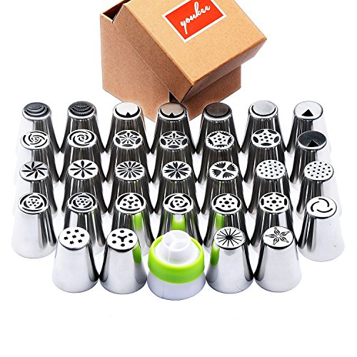 complete-russian-piping-tips-33-pcs-set-youkee-32pcs-304-stainless-steel-piping-tips-1-tri-color-cou