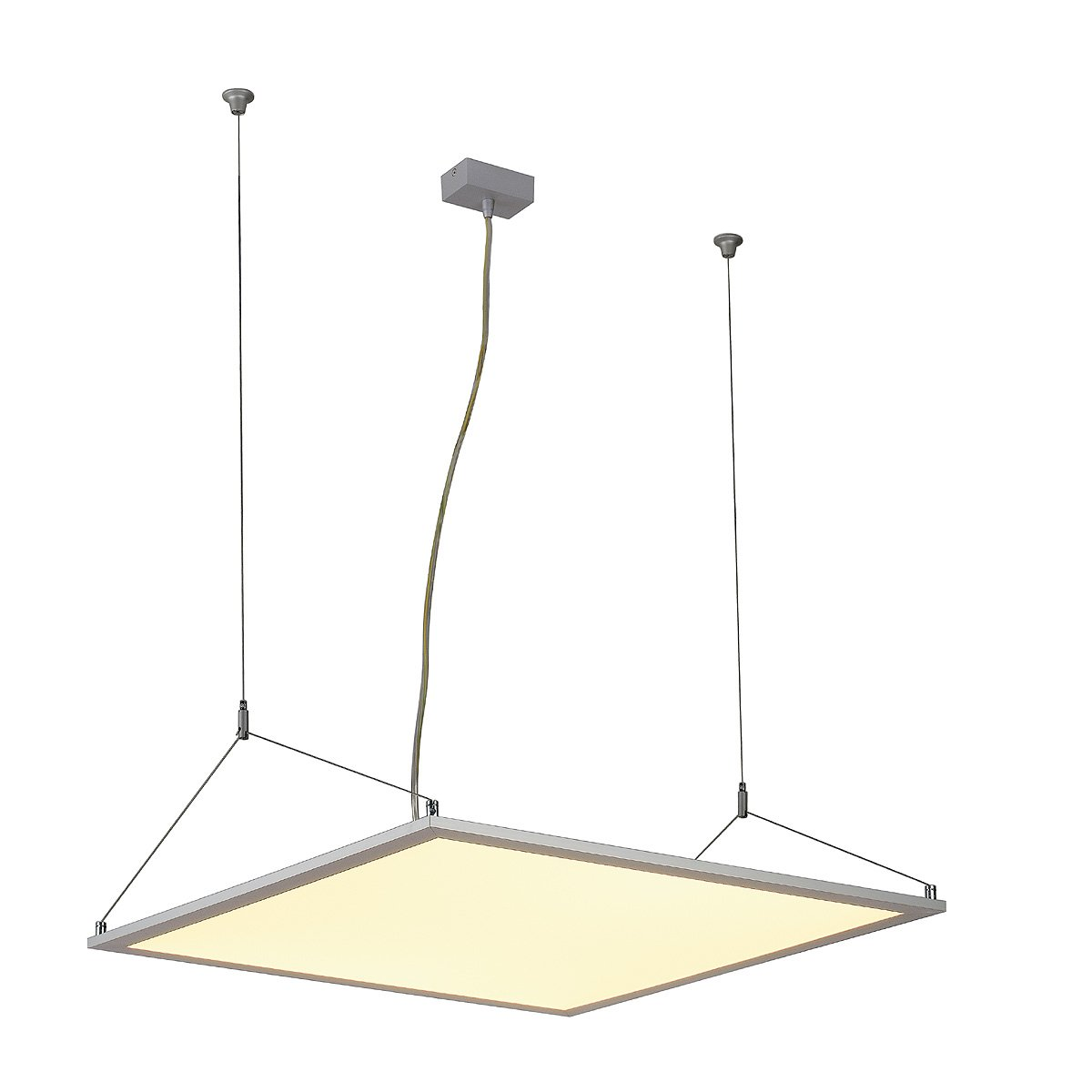 SLV LED Panel Pd 115, Quadratisch, Eloxiert, 96 LED, 48 W, 3000K 158512
