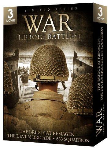 War: Heroic Battles - 3 Movie Set - The Bridge at Remagen / The Devil's Brigade / 633 Squadron by George Segal; Robert Vaughn; William Holden; Cliff Robertson