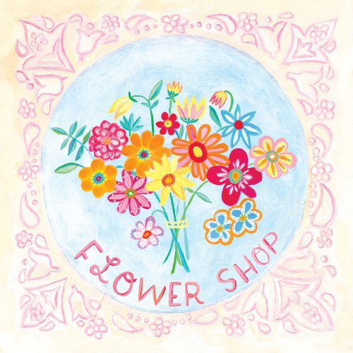 Oopsy daisy Bouquet, Flower Shop Stretched Canvas Wall Art by Donna Ingemanson, 26 by 26-Inch