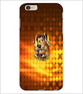 PrintDhaba Lord Ganesha D-3401 Back Case Cover for APPLE IPHONE 6S (Multi-Coloured)