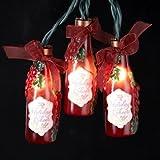 Kurt Adler 10-Light Grape Wine Bottle Light Set