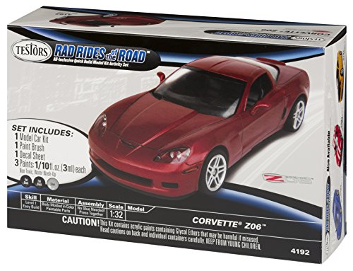 Testors Rad Rides of The Road Corvette Z06 Car Model Kit (1:32 Scale) - 1