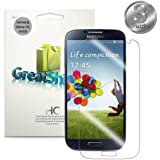 GreatShield Crystal Clear HD Ultra Smooth Anti-Scratch Screen Protector Shield Film for Samsung Galaxy S4 S IV GT-I9500 (3 Pack) - Lifetime Replacement Warranty
