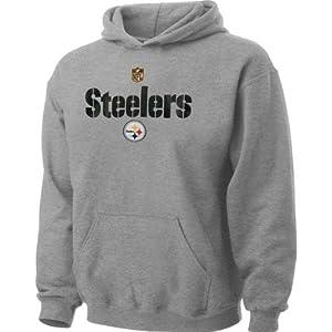 NFL Pittsburgh Steelers Kids Grey Stadium Hooded Sweatshirt by NFL