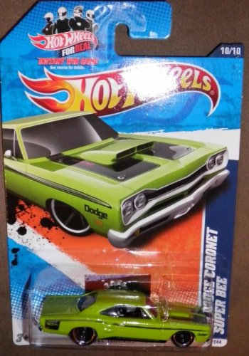 2011 HOT WHEELS MUSCLE MANIA '11 10/10 GREEN '69 DODGE CORONET SUPER BEE 110/244