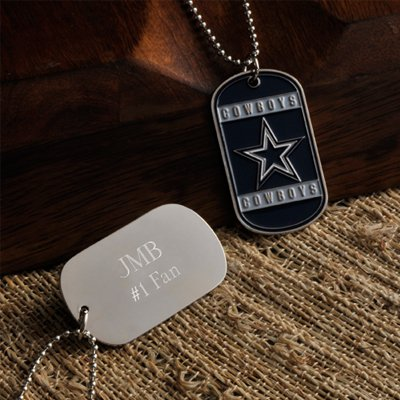 "Nfl San Diego Chargers Dog Tag With 17.5"" Chain"