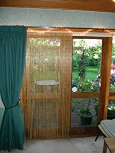 Natural Bamboo Beaded Curtain