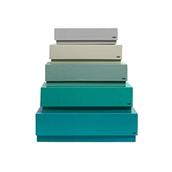 hay box box desktop aufbewahrungsboxen set gr nt ne 5 verschiedene gr en dc898. Black Bedroom Furniture Sets. Home Design Ideas