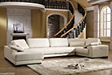 Design Voll-Leder Ecksofa-Sofa-Garnitur-Lederwohnlandschaft 5042-L3-W