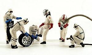figurinas Boxen crew, 6 figurinas in diferente Posen, 24h Le Mans , Modelo de Auto, modello completo, Spark 1:43
