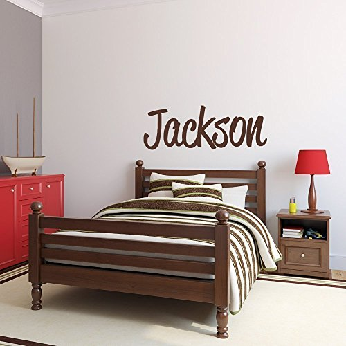 Custom Name Vinyl Wall Decal Sticker Art for Boys (Blue And Brown Wall Decals compare prices)