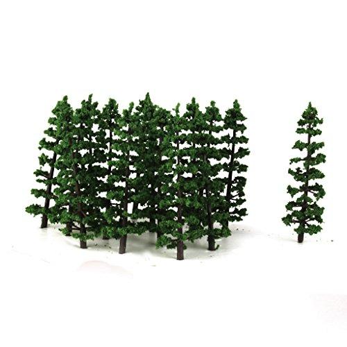 20-Stk-Plastik-Tannen-Baum-Modell-Bahn-Landschaft-Ho-1-100