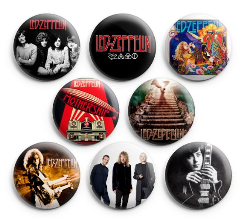 Led Zeppelin Pinback Buttons 8Pcs 1.25 Inch Best For Jacket,T-Shirts