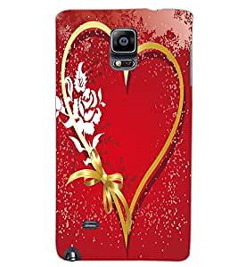 SAMSUNG GALAXY NOTE EDGE HEART Back Cover by PRINTSWAG