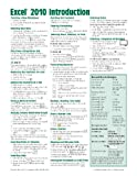 Microsoft Excel 2010 Introduction Quick Reference Guide (Cheat Sheet of Instructions, Tips & Shortcuts - Laminated Card)