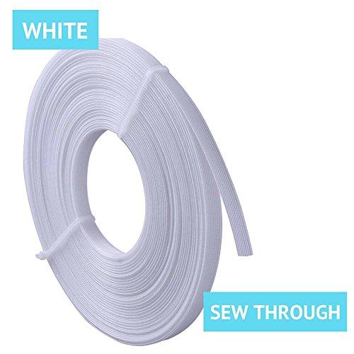 Best Deals! Rigilene Polyester Boning for Sewing, 1/2 Inch x 10 Yard Sew Through MaxPro Boning for C...