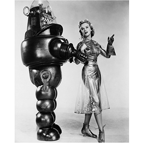 anne-francis-with-robby-the-robot-forbidden-planet-8-x-10-inch-photo