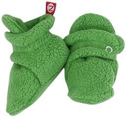 Zutano Unisex-Baby Newborn Cozie Fleece Bootie, Apple, 3 Months