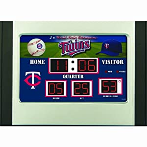 Minnesota Twins Scoreboard Desk & Alarm Clock by Caseys