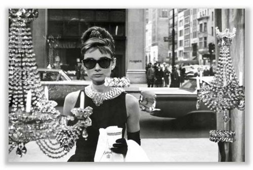 Breakfast at Tiffany's Movie Audrey Hepburn as Holly Golightly in Window Poster Print - 24x36
