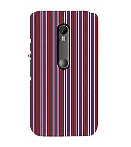 EPICCASE velvet stripes Mobile Back Case Cover For Moto G Turbo (Designer Case)