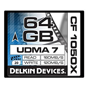 Delkin 64 GB CF 1050X UDMA 7 Cinema Memory Card (DDCF1050-64 GB)