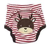 CuteOn Unisexo Bebé Niña Chico Pee Pantalones de entrenamiento Panal del pañal reutilizable - 51 Ciervo 24 Meses